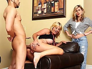 Horny Milf Flirts With Stepdaughters Black Bf And Gets Ass Fucked