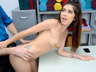 Shoplyfter - Cute Fresh Caught Stealing Fucks Her Way Out Of Trouble