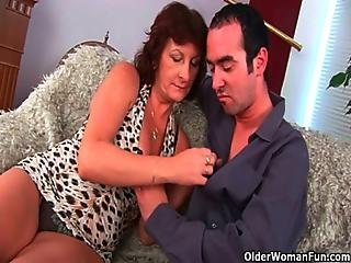 Hairy Mom Loves Cum On Her Face