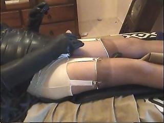 Crossdresser Rubber Masturbation