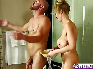 Super Hot Blonde Bitch With Big Tits Suck A Big Cock