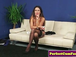 British Milf Tugs Black Cock For Facial