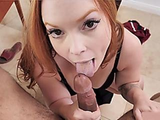 Busty Redhead Milf Stepmother Plays A Dangerous Game