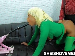 Msnovember Punished For Stealing Step Dad Money , Machine Throat Fucked 4k