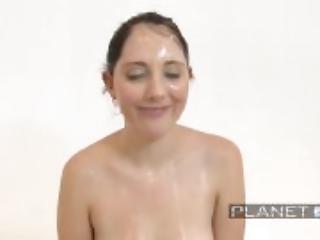 Nickey Huntsman Gets Many Cocks First Bukkake