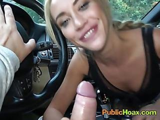 Blonde Vixen Katrin Tequila Blows Stranger For Cash