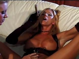 Blonde Smoking Cigar And Masturbe 4