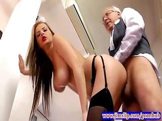 Tight Teen Amateur Pussy Plowed By Old Man Cock In Hd