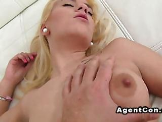 Petite Blonde Amateur Babe Sucks Huge Dick