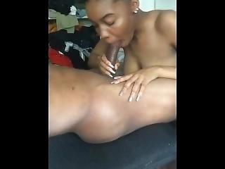 Ebony Teen Giving Me Head