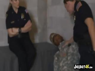 Douche Bag Soldier Gets Caught By Milf Cops Trying To Scam People