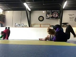 A Very Skilled And Flexible Dancer Is Kicking Boys Ass In Wrestling Compl