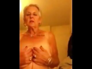 Sexy, Old Grandma Masturbating On Cam.