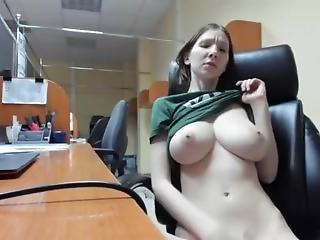 amateur, dikke tiet, vingeren, masturbatie, orgasme, school, solo, student