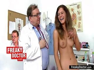 Slim Redhead Teen Electra Angels Weird Vagina Exam