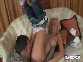 Fit Blonde Goes Deepthroat And Gets Nailed Ha