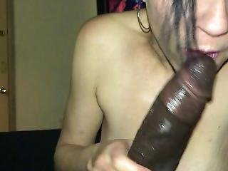 amateur, blasen, interrassisch, motel