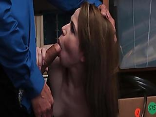 Lp Officer Perky Alina West To Give Him Blowjob