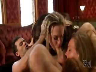 Rompe, Rompe Slikk, Blond, Rompe, Brunette, Cumshot, Spill, Slikk, Orgy, Ridning, Sex, Suging