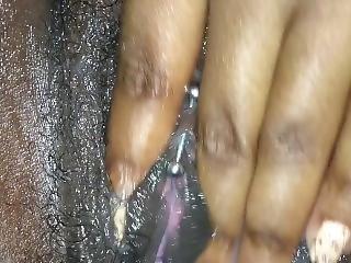amateur, cumshot, ébano, duro, masaje, masturbación, perforada, pov, coño, frotando coño, frotar, solo