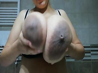 Giant Milky Tits With Chocolate Areolas
