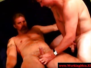 Mature Straight Dudes Fuck Each Other