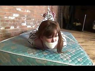 Cutie Hogtied & Tape Gagged