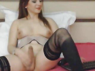 Blond T-girl Teasing Penis