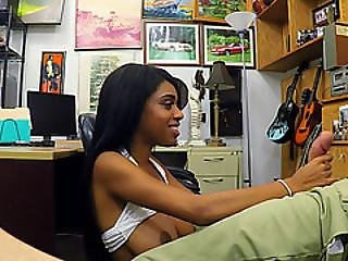 Sexy Ebony Babe Brittney White Fucks Hard In The Office For Cash