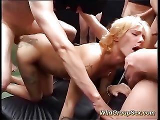 My Moms First Gangbang Orgy