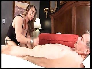 Muscle Goddess Brandimae Teaches Dirty Old Man Lesson 2
