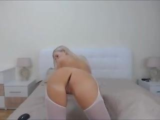 Blonde Girl Stripping Naked
