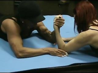 Woman Vs. Fitness Goddess In Armwrestling (ldr)