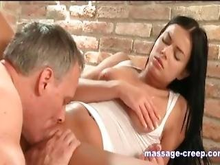 Oil Massage Teen Blonde Licking Pussy