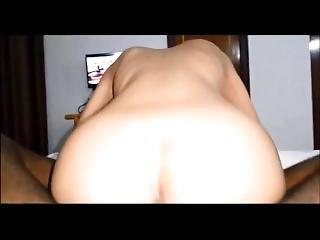 Asian Girl Riding A Black Dick