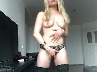 German Teen Strips For The First Time