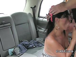 Brunette Milf Anal Fucks In Uk Cab