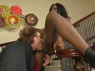 Passionate Monica Rae Fucked By White Cock
