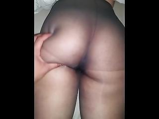 Sexy Pantyhose Big Ass Arab-indian Princess Curvy Played With Nylon Feet