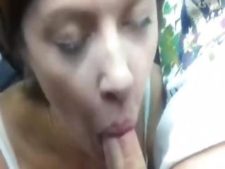 Horny Wife Blowjob On The Back Seat