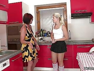 Kitchen, Lesbian, Mature, Milf, Teen, Young