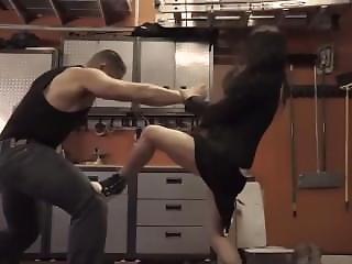 Chinese Girl Beat Man