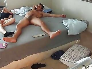 Teen Gets Fucked So Hard She Almost Falls Out Of The Bed