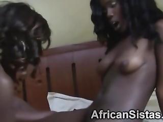 Bedroom Lesbian Sex With Hot Ebony Babes