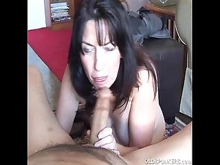 Cock Hungry Old Spunker Gives An Amazing Sloppy Blowjob
