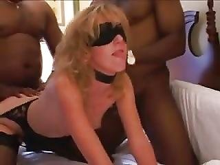 Interracial Hotwife Gangbang