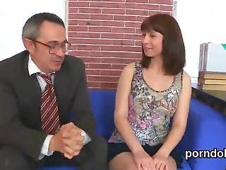 Adorable Teenie Is Being Seduced By Her Older Teacher To Suck Cock And Have Hardcore Sex In The Classroom