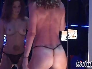 Delicious Lassies In Mask Exposed Their Boobies At A Hot Nightclub Party