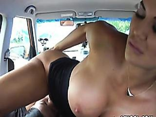 Luscious Driving Examiner Fingers Clients Cunt