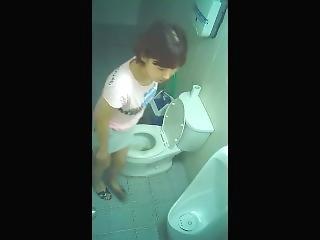 amateur, asiatique, coréene, espion, toilettes, voyeur
